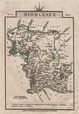 MIDDLESEX by John CARY. Miniature antique county map. Original colour, 1812